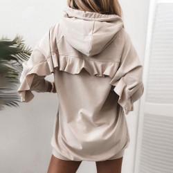 Fashione Shanone | Ruffle sweatshirt dress