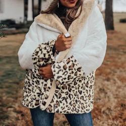 Fashione Shanone   Veste douce léopard