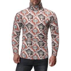 Fashione Shanone | Turtleneck vintage printed T-shirt