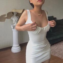 Fashione Shanone | Robe moulante blanche