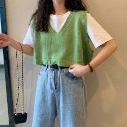 Fashione Shanone | Sleeveless crop vest sweater