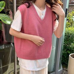 Fashione Shanone | Pull sans manche rose