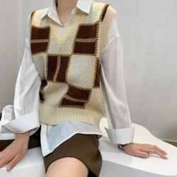 Fashione Shanone | Plaid vest sweater