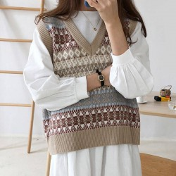 Fashione Shanone | Patterned vest sweater