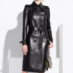 Fashione Shanone | Leather trench coat