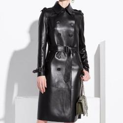 Fashione Shanone | Manteau trench en cuir