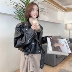 Fashione Shanone | Oversized leather biker jacket