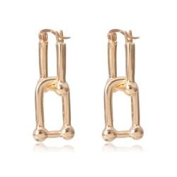 Fashione Shanone | Geometric link earrings