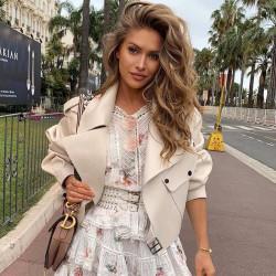 Fashione Shanone | Veste en cuir oversize