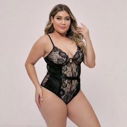 Fashione Shanone | Plus size lace-up back bodysuit