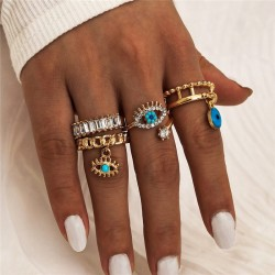 Fashione Shanone | Evil eye rings set