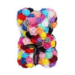 Artificial eternal roses teddy bear