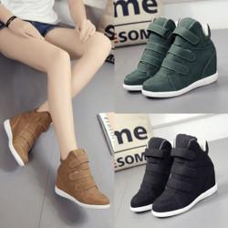Velcro wedge sneakers