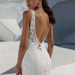 Backless mermaid lace dress