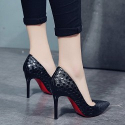 Leather pumps with red bottoms