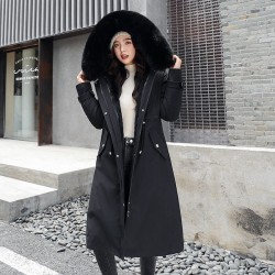 Parka with removable fur hood