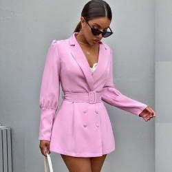Pink puff sleeves blazer