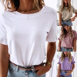 T-shirt manches courtes à froufrou