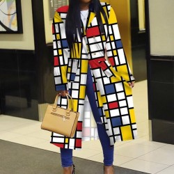 Trench long multicolore