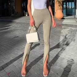 Front slit leggings