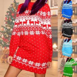 Christmas sweatshirt dress