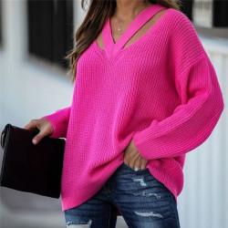 Pull en laine col ouvert