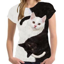 T-shirt chat yin et yang