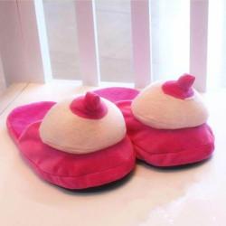 Chaussons seins pantoucle seins en silicone