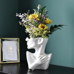Pot de fleurs portrait art