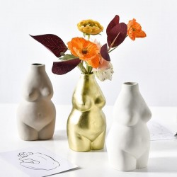 Curvy female body vase