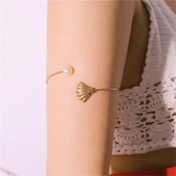 Bracelet de bras manchette coquillage