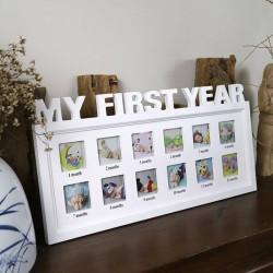 Cadeau de naissance cadre photo ma première année