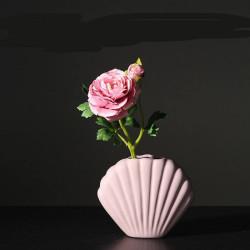 Vase coquillage rose