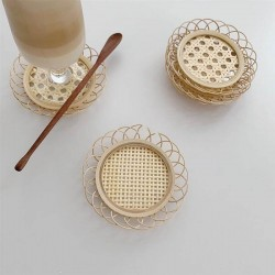 Rattan and bambbo coaster