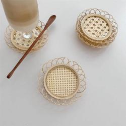 Sous-verre en rotin et bambou