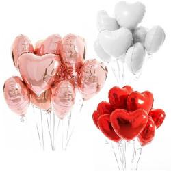 10 ballons saint Valentin en forme de coeurs