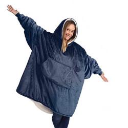 Plaid fleece sweatshirt