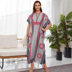Arabic caftan maxi dress