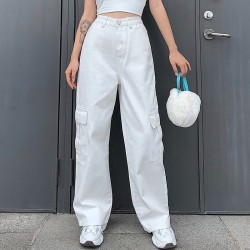 Flared jeans with pockets
