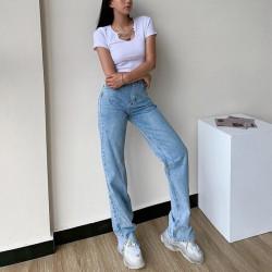 Flared split jeans