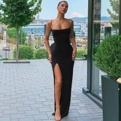 Long slit dress