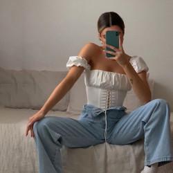 Top corset épaules décolletées