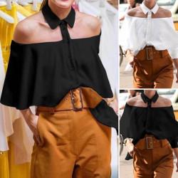 Chemise blouse à épaules découvertes