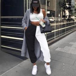 Pantalon de jogging noir et blanc