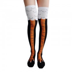 Chicken leg knee high socks