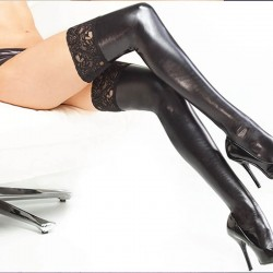 Leather style stockings