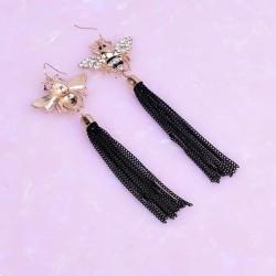 Bee dangling earrings