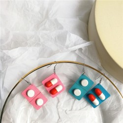 Medicine capsule earrings