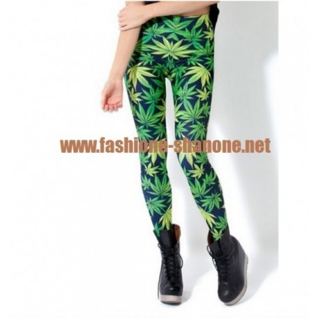 Legging feuille de cannabis