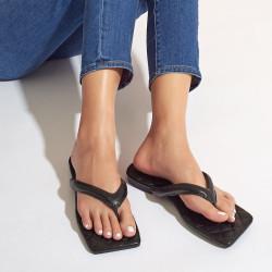 Square toe flip flops